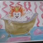 Klara in der Badewanne